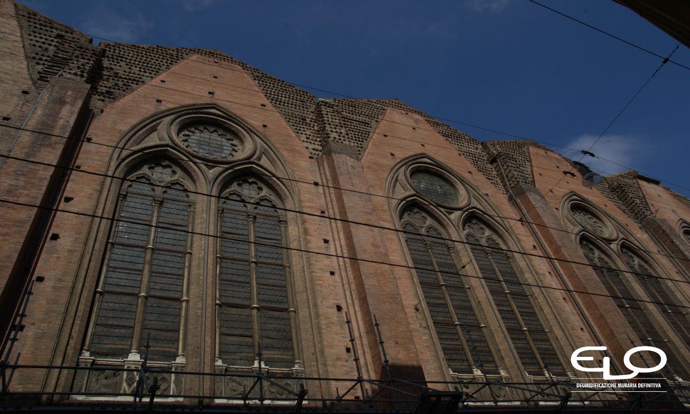 Umidità negli edifici storici - San Petronio laterale