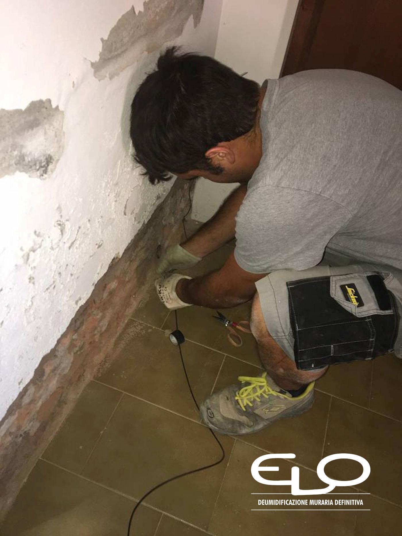 Efficacia impianto elettrosmotico - Il restauro del santuario di Poggio Piccolo