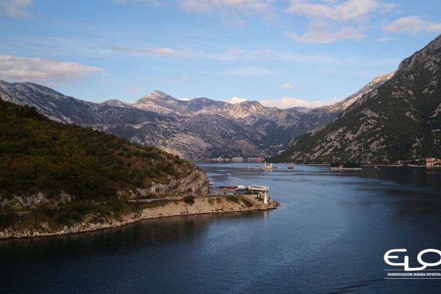 EloSystem Intervento in Montenegro infiltrazioni d'acqua in setti di cemento