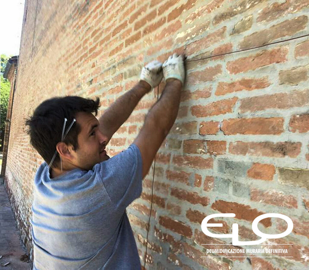 Deumidificazione muraria con sistema misto Elo - elettrodo provvisorio