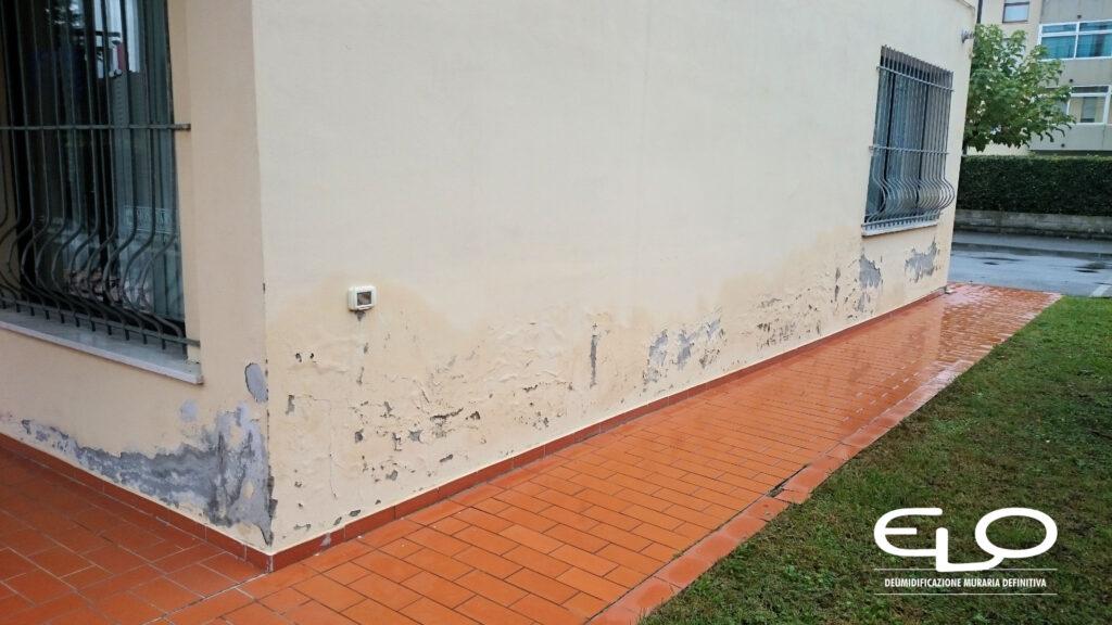 Deumidificazione muraria con sistema misto Elo - umidità di risalita