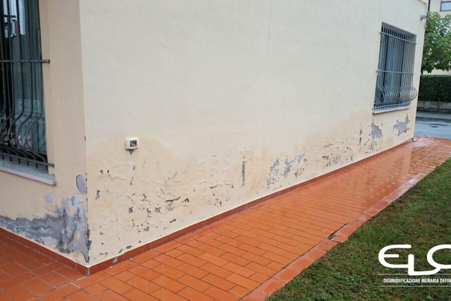 Umidità di risalita deumidificazione muraria con Sistema misto ELO