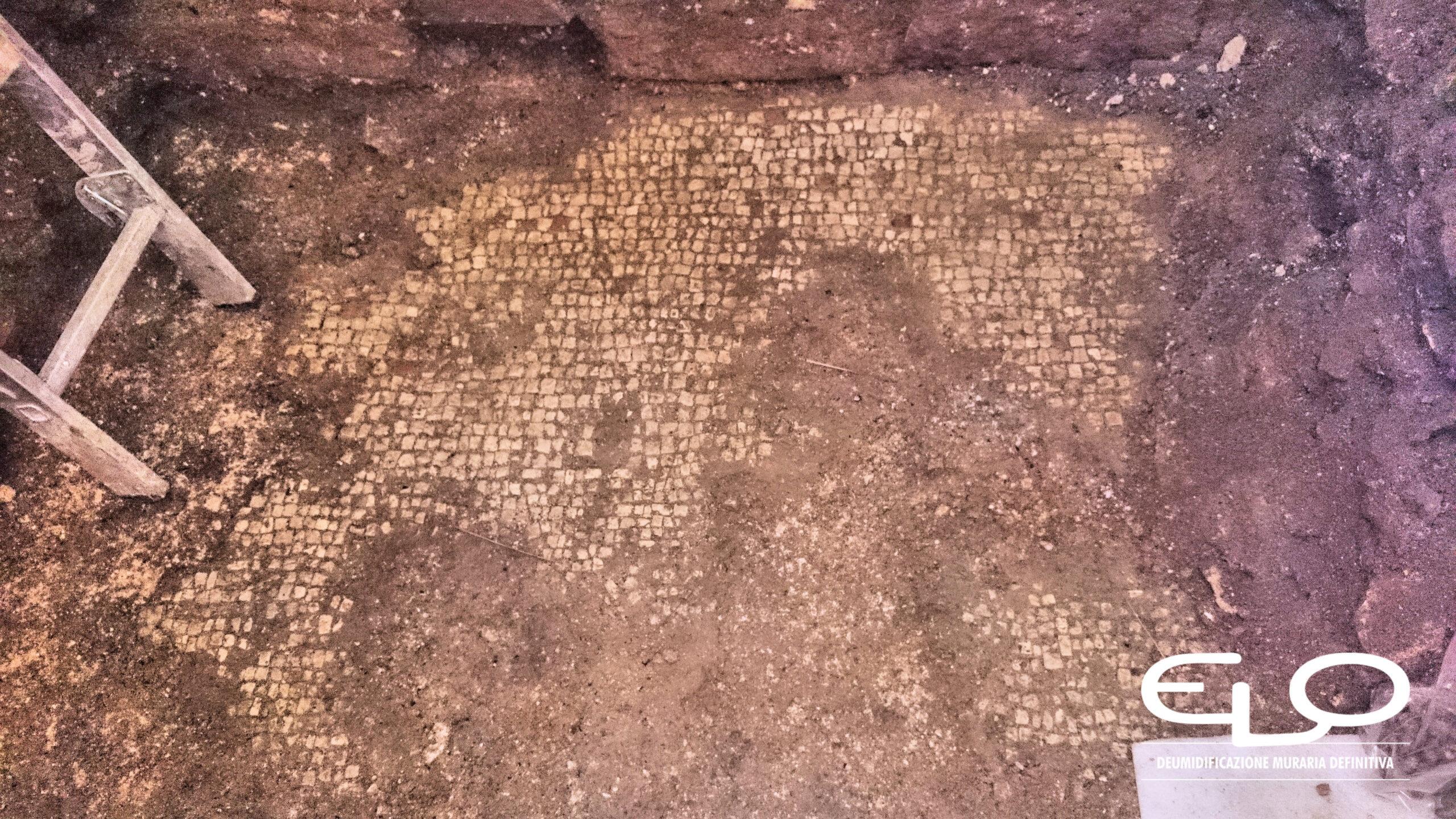 Deumidificazione di Palazzo storico in Croazia Parenzo Porec mosaico